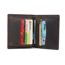 Men's Retro Leather Bifold Wallet Slim Money Clip Credit Card Holder Coin Pocket