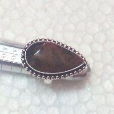 Mahagony Obsidian 925 Silver Overlay Hand Made Ring US Size 7.5 GGB-1018