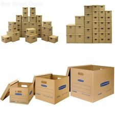 Moving Boxes Kit Supplies Cardboard With Lid Large Medium Book Banker Heavy Duty