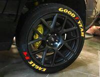 Tire Letter Bridgestone Yellow stickers 1.25/'/'-15/'/'16/'17/'18/'19/'/'20  8x kit