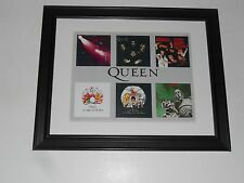 "Framed Queen Album Art 1973-1977 Night Opera, News, Day Races, Sheer 14"" x 17"""