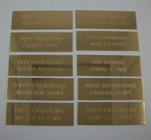 """Custom Engraved 1"""" x 3""""  Brass Trophy, Sign Name Plate ."""