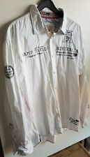 Camp David Australia Welcome Down Under Herren Langarm Hemd Gr. XXXL, 3XL, weiß