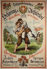 Original Plakat - Eidg. Schwing u. Aelplerfest in Basel