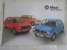 British Leyland Maxi 1500 1750 & HL range brochure Oct 1976 ref 3197/B