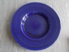 Cobalt blue clay fruit bowl, large 1960s by Kupittaan savi Finland