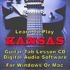 KANSAS Guitar Tab Lesson CD Software - 9 Songs