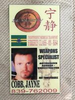 Serenity/Firefly ID Badge- WEAPONS SPECIALIST JAYNE COBB