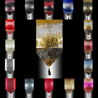LUXURY ABSTRACT SHINY SEQUINS DECORATIVE TASSEL WEDDING BED TABLE RUNNER CLOTH