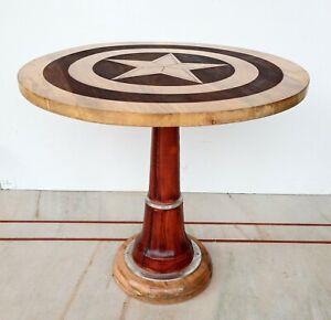 Captain America Wooden Shield First Avenger Table Coffee Tea Home Decor