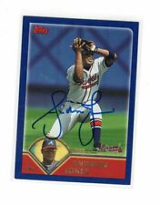 2003 Topps  Andruw Jones Auto Signed Card #13 HAS DINGED CORNERS