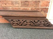 More details for piece of old pipe organ case featuring exquisitively carved fruit