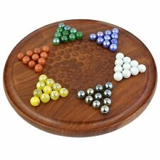 Chinese Checkers With Marbles - Handcrafted Wooden Game - Wooden Toy From India