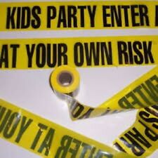 Kids Party Enter At Your Own Risk Barricade Tape - 15 Feet!