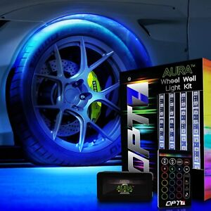 OPT7 Aura Wheel Well LED Light Kit 4pc All-Color Accent Neon Strips Rim Tire