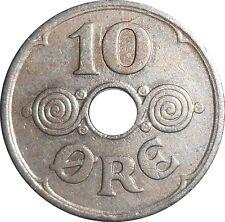 Denmark 10 Ore 1931 N♥GJ KM#822.2 - Christian X (D-15)