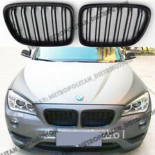 BMW E84,2012-2015,double/dual bar,X1 M SPORT/PERFORMANCE look grille,Gloss Black