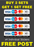 4 x Contactless Card Payment Stickers Visa Credit Card Amex Paypal Shop Taxi