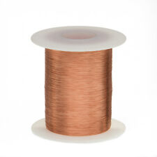 "34 AWG Gauge Enameled Copper Magnet Wire 2 oz 1011' Length 0.0069"" 155C Natural"