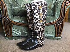 French Sole Estampado De Leopardo Botas EU37 Reino Unido 4