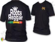 Rasta Tee-Shirt Roots Reggae Conquering Lion Of Judah Jah Star Wear