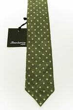 New 180$ SARTORIO by KITON Linen + Cotton Green Unlined Hand-Rolled Skinny
