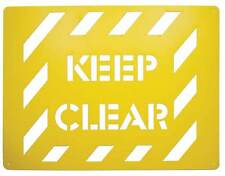 Stencil Template Spray On Safety Sign Keep Clear Warning Caution Reusable ST1211