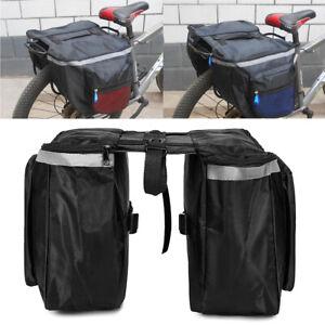 Bike Bicycle Rear Bag Back Rack Pannier Waterproof Seat Box Saddle Carry Bag
