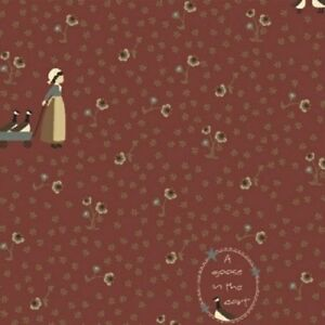 Windham Fabrics Pauline by L'Atelier Perdu 43417 1 Red Girl BTY FREE US SHIPPING