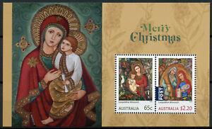 Australia Christmas Stamps 2020 MNH Nativity Leopoldine Mimovich Art 2v M/S