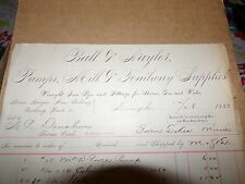 1883 Ball & Naylor Pumps Mill & railway Supplies Minneapolis MN Letterhead