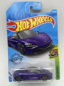 HOT WHEELS McLAREN 720S HW EXOTICS Series Purple 1/64 Scale FREE SHIPPING