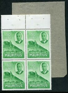 Mauritius KGVI 1953 50c SG 286 booklet pane of 4 Murray Payne P.2 (cat. £25+)