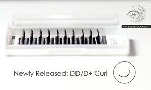 Individual Eyelash Extensions DD Curl Faux Mink Lashes Semi Permanent U D+ Curl