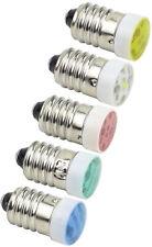 10mm E10S LED Screw Base Indicator Light 24V AC/DC Blue Green Red Yellow White