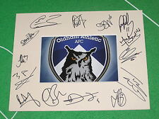 Oldham Athletic FC Mount Multi-Signed x Fourteen 2014/15 First Team Squad