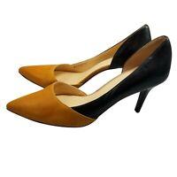 Cole Haan Rendon Pump Size 11 Women's Leather Black Tan Classic