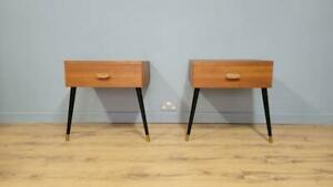 Mid Century Pair Of G Plan Teak Floating Bedside Cabinets Fresco Continental