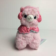 AMUSE Earmuff Alpacasso Pink Girl (16cm) Winter Arpakasso Alpaca Plush Japan NWT