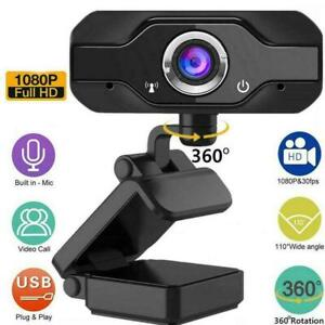 Full HD 1080P Webcam With Microphone MIC USB Camera Desktop Laptop For PC L8H0