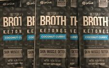 Better Broth Ketones Pruvit Keto - Coconut Curry - Skin/Muscle/Detox (5 Packets)
