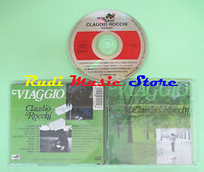 CD CLAUDIO ROCCHI Viaggio italy VINYL MAGIC MAURO PAGANI (Xi3) no lp mc dvd