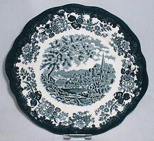 Royal Worcester PALISSY Avon Scenes GRÜN ~ Platte rund mit Griff / Kuchenplatte