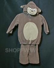 Carters Brown Fleece 2-Pc Monkey Halloween Costume 12mo.
