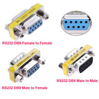 RS232 DB9 Male to Male/Female Serial Port Extender Adapter Converter Connector