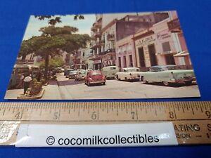 Postcard 1960s San Francisco Street Old San Juan Puerto Rico Vintage Cars VW's