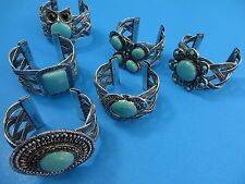 US SELLER-15pcs vintage style turquoise bangle jewelry wholesale lot bracelet