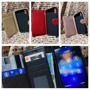 Leather Wallet Case Card Slot Flip Bookcase, IPHONE 6,7,8,X,XR ,XS,11,11 PRO,MAX