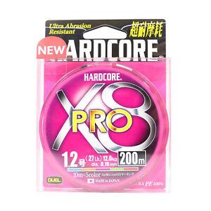 Yo Zuri Duel P.E Line Hardcore X8 Pro 200m P.E 1.2 12.0Kg (0.19mm) 5 Color H3891