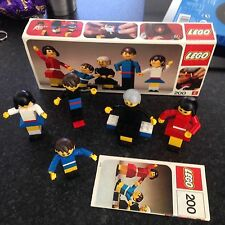 Vintage Lego set 200 C 1974 family figures with box, instructions & another set